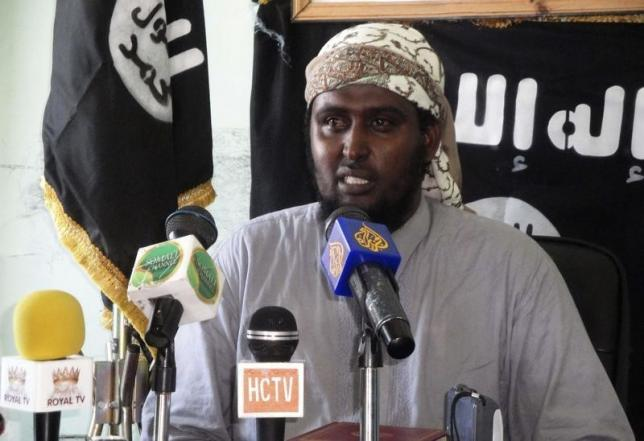 Al-Shabaab spokesman Sheikh Ali Mohamud Rage addresses a news conference in Somalia's capital Mogadishu May 7, 2011. REUTERS/Stringer